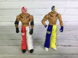 Mattel 2010 WWE Rey Mysterio Wrestling Action Figure Lot of 2 Elite Coll... - $29.69