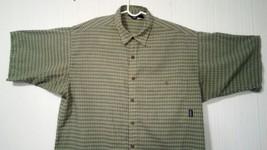 Patagonia Men's Green L short-sleeve button-down plaid Breast Pocket shirt image 2