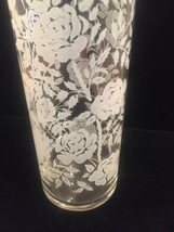 Vintage 70s Libbey White Roses pattern collins glasses set of 4 image 2