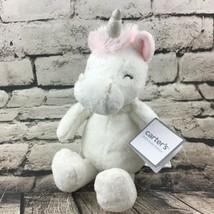 "Carters Unicorn Plush Super Soft Pink Stuffed Animal 10"" Baby Crib Toy W... - $14.84"
