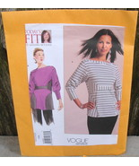 Vogue Sandra Betzina Sewing Pattern V1109 Misses Top Shirt Uncut* - $25.00