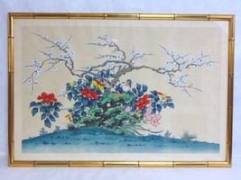 VINTAGE CHINESE PAINTING ON LINEN - $250.00