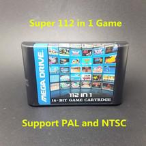 Hot Sell Best 112 in 1 Cartridge Game Card MD 16bit Sega Mega Drive Gene... - $24.99