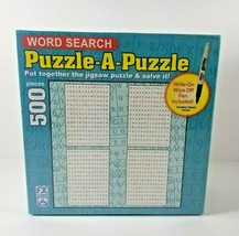 New Word Search Puzzle A Puzzle 500 piece Jigsaw Write on and Wipe off SCHMID - $24.99