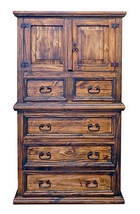 Rustic Medium Wax Mansion Chest of Drawers Solid Wood Western Style Lodg... - $836.55
