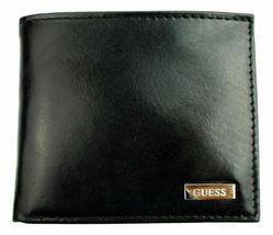 New Guess Men's Leather Credit Card Id Wallet Passcase Bifold Black 31GU22X018 image 4