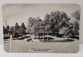 Williamsport Md Photo Postcard William D Byron Memorial Park Gazebo - $9.89