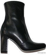 NEW MaxMara boots leather Italy black 35 4.5 5 ankle designer Max Mara h... - $290.99