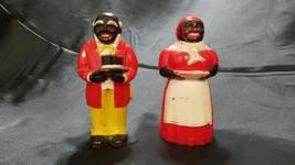 Vtg Black Americana Uncle Mose & Aunt Jemima Salt & Pepper Shaker Set (1... - $31.50