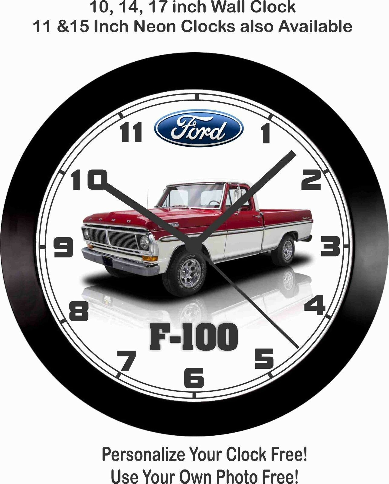 Primary image for 1972 FORD F-100 PICKUP TRUCK WALL 17 INCH CLOCK-FREE USA SHIP!, F150, Chevrolet,