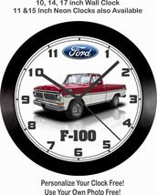 1972 FORD F-100 PICKUP TRUCK WALL CLOCK-FREE USA SHIP!, F150, Chevrolet,... - $51.99