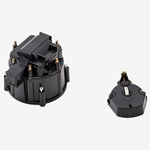 A-Team Performance CR6BK HEI OEM Distributor Cap, Rotor and, Coil Cover Kit Blac
