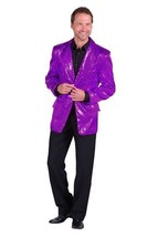 Gents 2017 style Sequinned Cabaret Jackets - Purple - $73.01