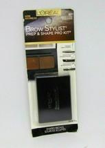 L'OREAL BROW STYLIST Prep & Shape Pro Kit No.387 Medium to Dark  0.12oz/... - $7.87