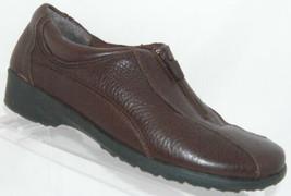 Easy Spirit 'Analises' brown leather round toe zip elastic slip on shoe 7.5W - $26.07 CAD