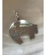 Vintage Sterling Silver JHW Signed Southwest Stamped Tribal Bear Pendant... - $21.36