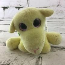 Suprizamals Mini Plush Yellow Pink Glitter Eyes Stuffed Animal Soft Toy  - $9.89