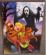 Scooby Doo & Shaggy vs Ghostface Glossy Art Print 11 x 17 In Hard Plasti... - $24.99