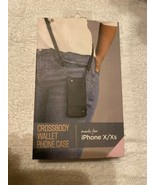 iPhone X / Xs  Fellowes Crossbody Wallet  Phone Case New In Box - $14.84