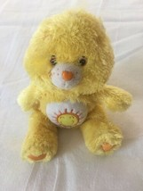 "9"" Funshine Care Bear Bean Bag Plush Silky Fluffy Floppy Stuffed Animal EUC - $14.00"