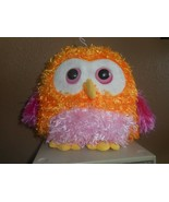 "Ganz Whoorah Hoot Owl 7"" Plush Stuffed Orange, Pinks, Yellow. Fluffy (NO... - $9.89"