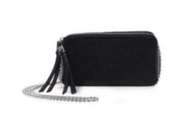 Steve Madden NWT $58 Small Black B tinsley Double Zip Chain Crossbody Ba... - $22.97