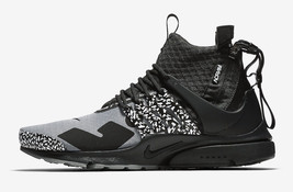 Mens Nike x Acronym Air Presto Mid Cool Grey Black AH7832-001 - $279.99