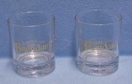 2 Saint Brendans Superior Irish Cream Liqueur Tumbler Glasses Gold Lette... - $9.85