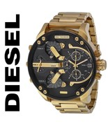 Diesel Mens Watch DZ7333 Mr.Daddy 2.0 Black Dial Gold tone Chronograph D... - $179.00