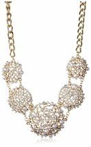 Cohesive Jewels Blumenmuster Kunst Perlen Und Swarovski Strass Statement Kette