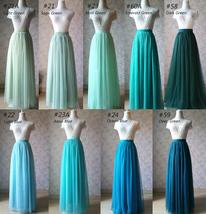 Women Blush Tulle Skirt Full Long Tulle Skirt, Blush Pink, High Waisted, Wedding image 11