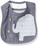 Mud Pie Baby Boys' Applique Bib, Elephant Chambray, One Size - $13.71