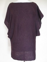CAbi Sweater Medium Ladies plum wool blend boatneck angel wing sleeve #143 - $19.79
