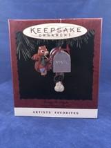 Making it Bright 1994 Hallmark Artists Favorites Ornament Mailbox Chipmunk  - $8.85