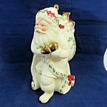 Vintage Lenox Santa Cookie Jar Skates To New Millennium 1999 Susan Steiner  - $49.49