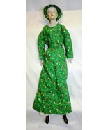 """Vintage 19"""" Porcelain Lady Doll Hand Painted Cloth Body - $29.69"""