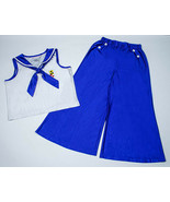 AMERICAN GIRL MEDIUM 10 12 PAJAMAS KIT BEACH NAUTICAL SAILOR BLUE RETIRE... - $29.69