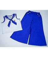 AMERICAN GIRL MEDIUM 10 12 PAJAMAS KIT BEACH NAUTICAL SAILOR BLUE RETIRED PJS - £23.03 GBP