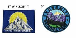 Lost in The Right Direction and Yosemite National Park Series 2-Pack Embroidered - $7.88