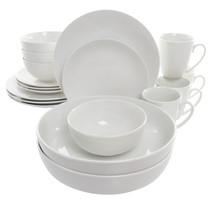 MEGA-EL-OWEN Elama Owen 18 Piece Porcelain Dinnerware Set with 2 Large S... - $73.99