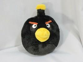"5"" Angry Bird Plush Black Bomb Toy with SOUND 2010 Commonwealth Rovio - $14.84"
