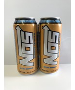 Nos Energy Drink Nitro Mango 16oz Cans. Total 2 Full Cans Lot - $9.99