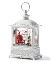 "8.75"" White Water Lantern w Loop Hanger and Memorial Sentiment"