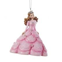 "Kurt Adler 4"" Ice Palace Princess in Pink Dress Rhinestones Christmas Ornament - $15.58"