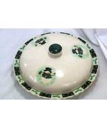 Made In China Snowman With Holly Berries And Stars Domed Lidded Pie Plate - $10.07