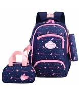 Children Girls Backpack 3PCS Set Lightweight Waterproof Love Printed Sch... - $39.46