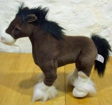 """Gund CLYDE THE BROWN CLYDESDALE STALLION HORSE 15"""" Plush STUFFED ANIMAL Toy - $24.74"""
