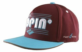 Flat Fitty On And Popin Burgundy Carolina Blue SnapBack Baseball Cap Hat NWT image 2
