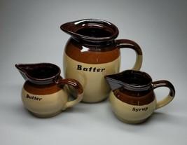 Vintage Handmade Clayworks Pancake Day Set 3pcs. EUC  - $54.99