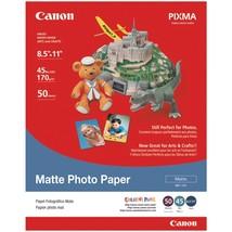 "Canon Matte Photo Paper (8.5""l X 11""w; 50 Pk) CND7981A004 - $22.47"